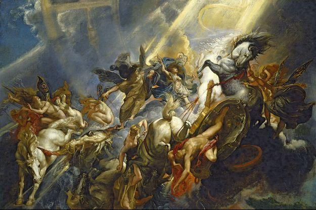 Explosion de lumière et de formes dans l'entrelacement lascif des hommes et des animaux de «La chute de Phaéton» (1604).