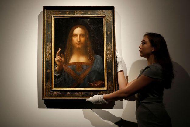 """Le tableau """"Salvator Mundi"""" de Léonard de Vinci."""