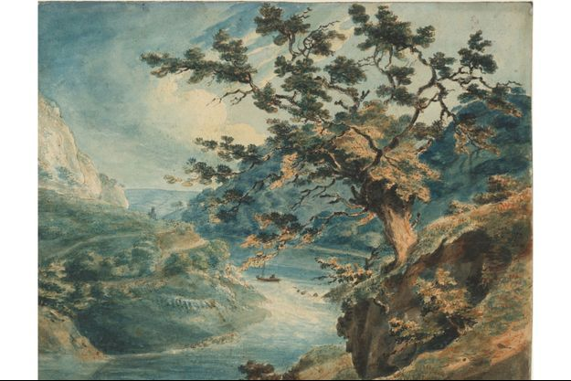 """""""Vue des gorges de l'Avon"""", 1791."""