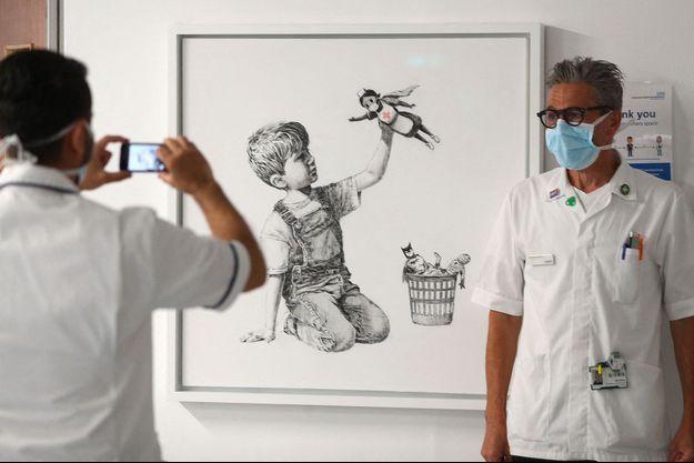 L'oeuvre était exposée à l'hôpital de Southampton.