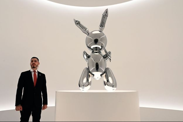 "Le ""lapin"" de Jeff Koons."