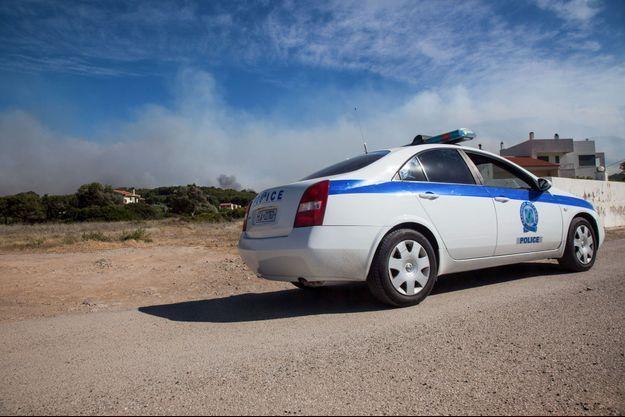 Un véhicule de la police grecque (image d'illustration).