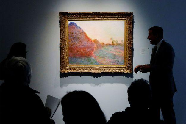 Ce tableau de Monet a été vendu aux enchères à New York.