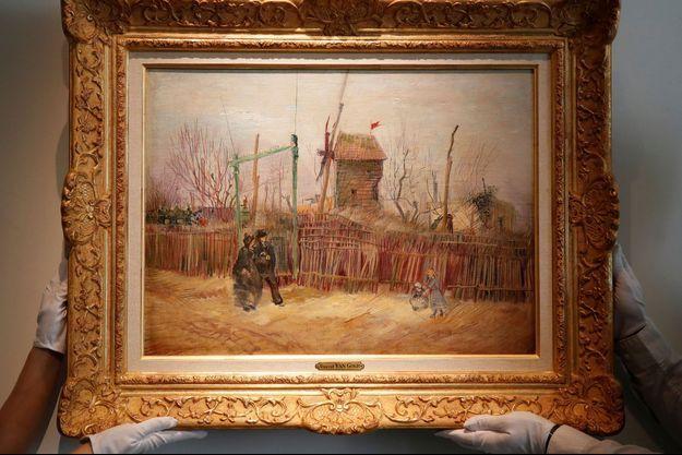 """""""Scène de rue à Montmartre"""", un Van Gogh encore jamais exposé, a été adjugé 13 millions d'euros."""