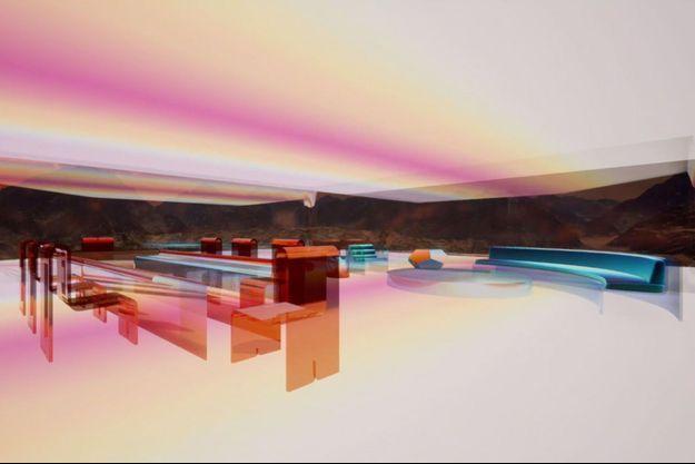 """La maison """"Mars House"""" de Krista Kim."""