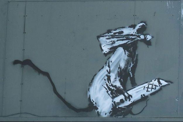 Graffiti de Banksy, dérobé.