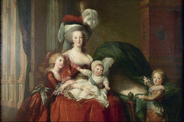 Marie-Antoinette et ses enfants, 1787.