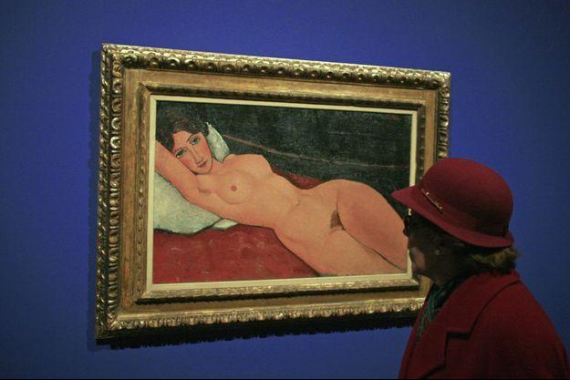 """Le """"Nu couché"""" de Modigliani."""