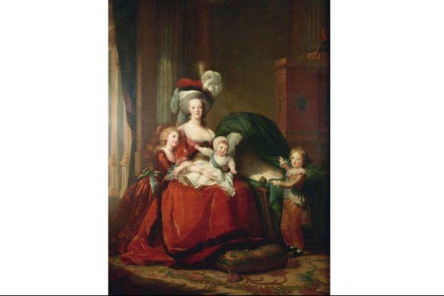Huile sur toile de Marie-Antoinette et ses enfants, en 1787, par Elisabeth Louise Vigée Lebrun.