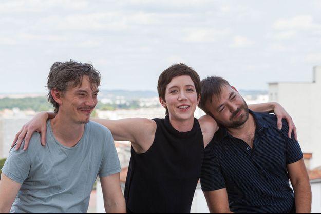 """L'équipe de """"Petit Paysan"""", Swan Arlaud, Sara Giraudeau et le réalisateur Hubert Charuel"""