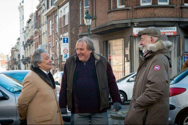 Christian Clavier, Gérard Depardieu et Bertrand Blier.