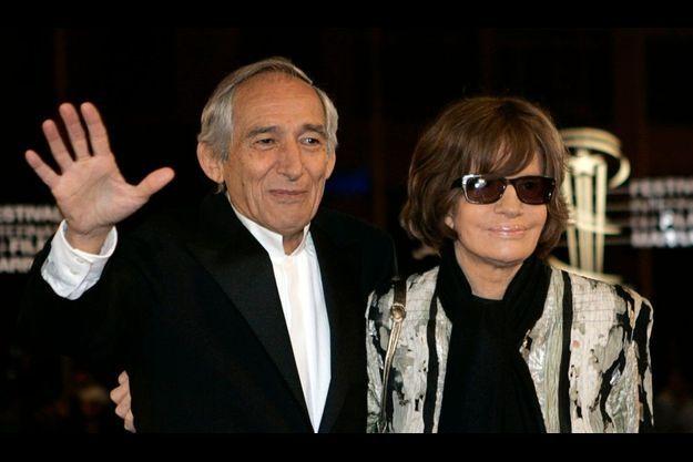 Alain Corneau et sa compagne Nadine Trintignant.