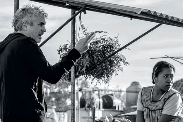 """Alfonso Cuaron sur le tournage de """"Roma""""."""