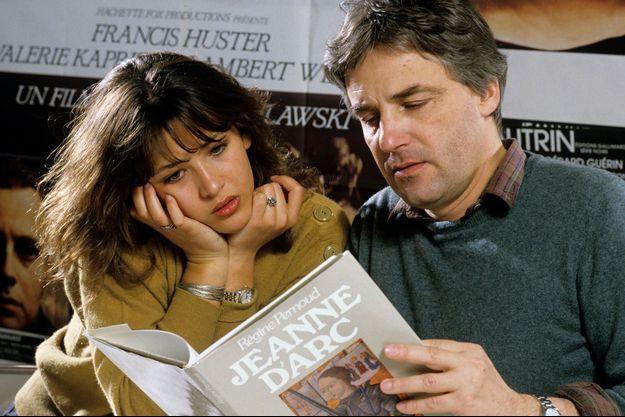 Sophie Marceau et son ex-mari Andrzej Zulawski en avril 1986
