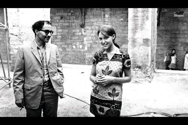 Anne Wiazemsky et Jean-Luc Godard.