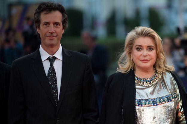 Antonin Baudry et Catherine Deneuve lors du 45e Festival de Deauville 2019.
