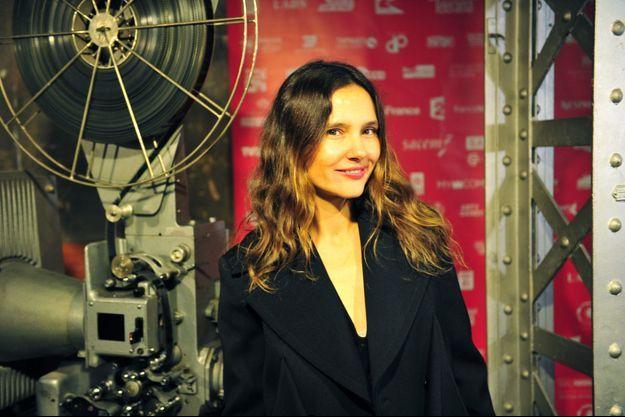 """Virginie Ledoyen, rayonnante à l'ouverture du festival """"Courts devant""""."""