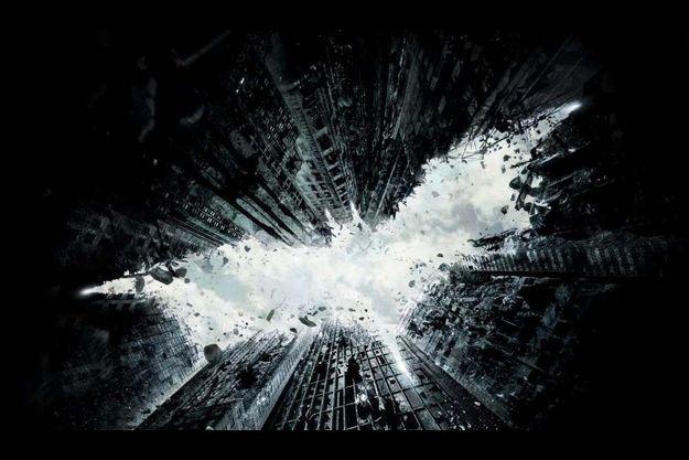 Une affiche de The Dark Knight Rises