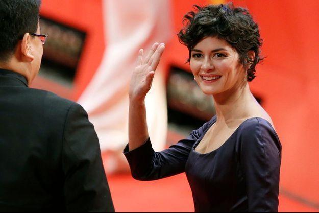 Audrey Tautou sur le tapis rouge de l'ouverture du Festival de Berlin.