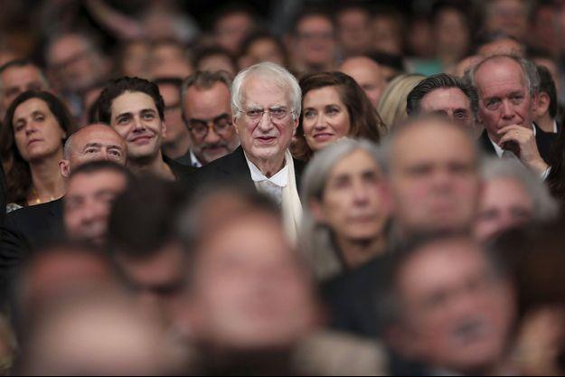 Au milieu des cinéphiles, lors du dernier Festival Lumière, Bertrand Tavernier.