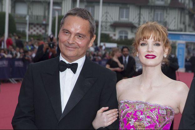 Bruno Barde et Jessica Chastain. L'émotion de l'actrice lors de son hommage reste l'un de ses meilleurs souvenirs.