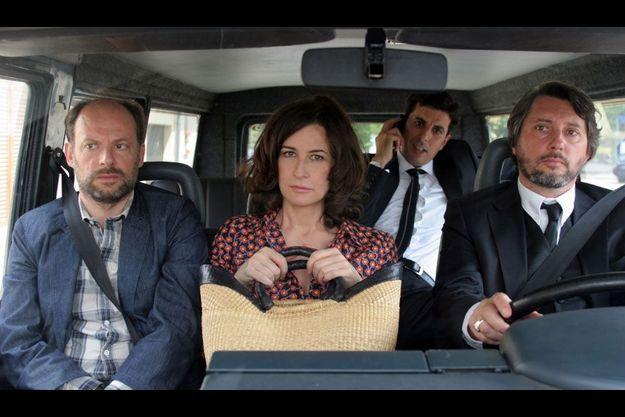 Denis Podalydès, Valérie Lemercier et Bruno Podalydès dans «Adieu Berthe».