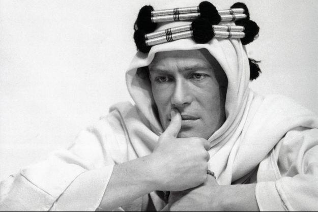 """Peter O'Toole lors du tournage de """"Lawrence d'Arabie""""."""