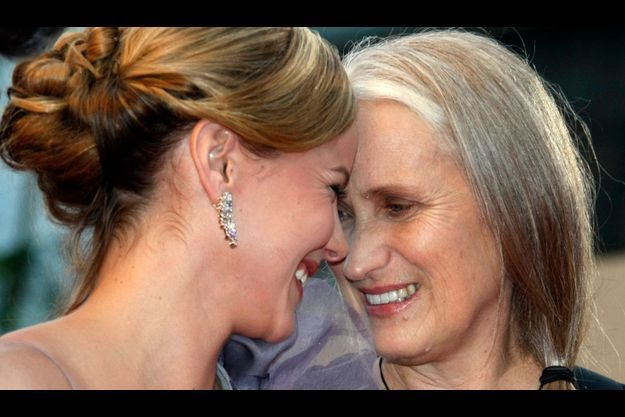 "Jane Campion et l'actrice de ""Bright Star"" Abbie Cornish."