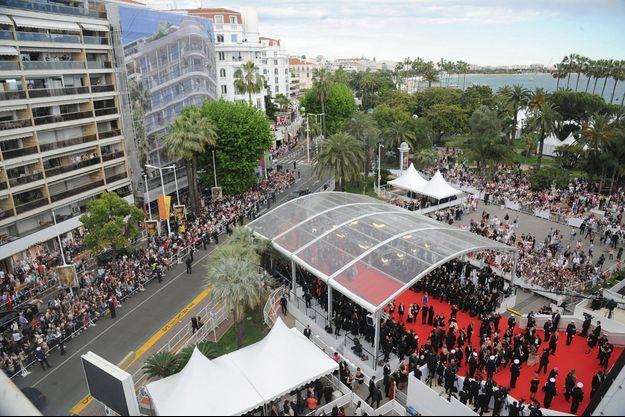 Le tapis rouge du Festival de Cannes en 2014.
