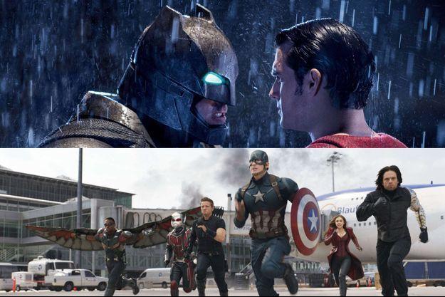 "Images de ""Batman v Superman"" et de ""Captain America: Civil War"""
