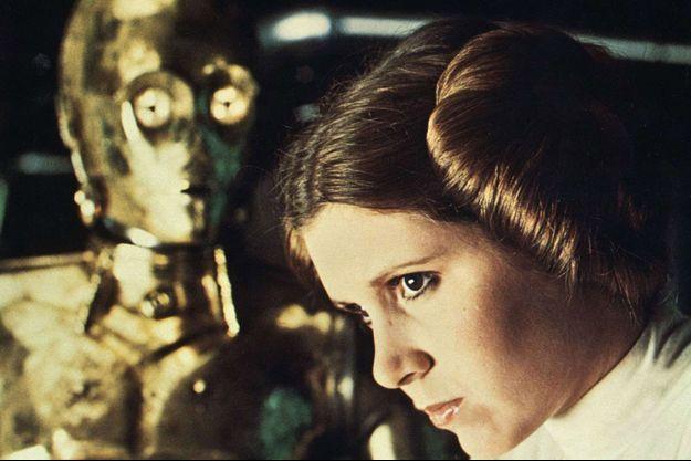 "Carrie Fisher dans ""Star Wars""."