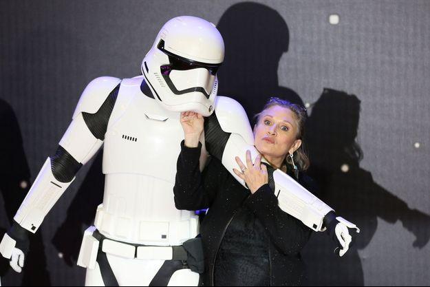 Carrie Fisher le 16 décembre dernier.