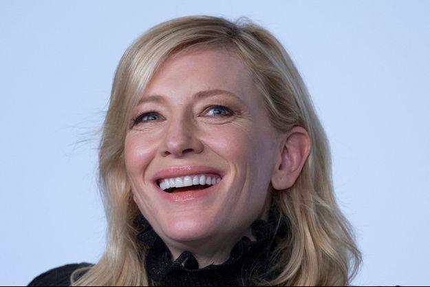 """Cate Blanchett lors de la conférence de presse de """"Carol""""."""