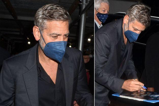 George Clooney à New York le 13 octobre 2021.
