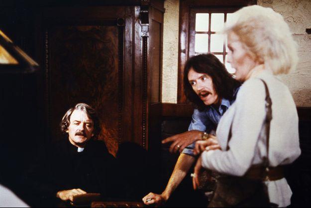 """Sur le tournage de """"Fog"""" de John Carpenter."""