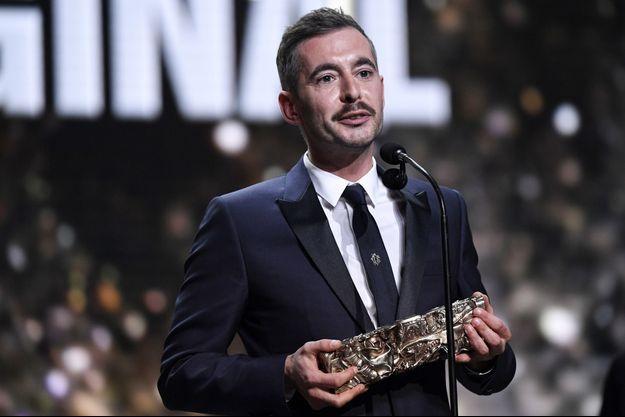 Xavier Legrand sur la scène des César 2019.