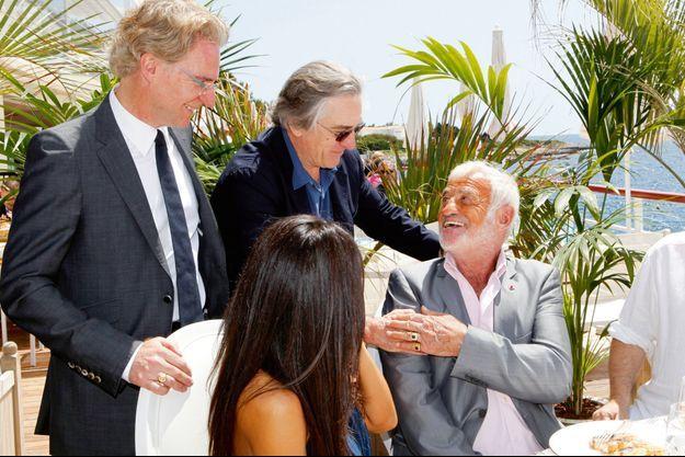 À l'Hôtel du Cap-Eden-Roc, en marge du Festival de Cannes 2012. Déjeuner d'hommage organisé par Olivier Royant, directeur de la rédaction de Paris Match. Un invité surprise: Robert De Niro