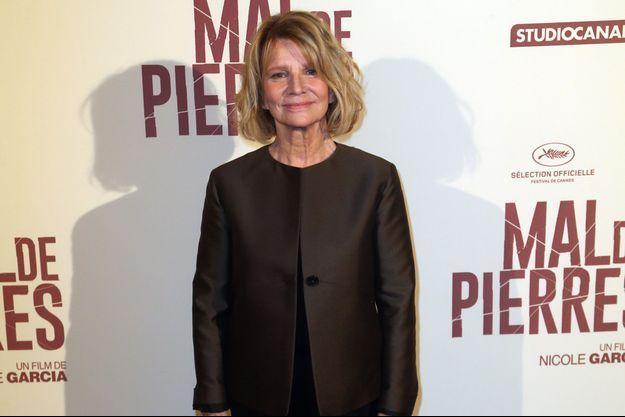 Nicole Garcia le 11 octobre à Paris.