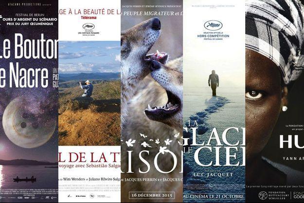 Montage photo des cinq affiches sélectionnés.