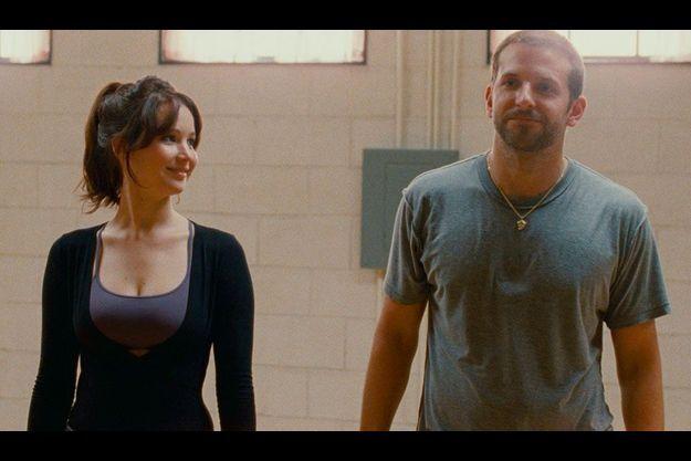 "Jennifer Lawrence et Bradley Cooper dans ""Hapiness Therapy""."