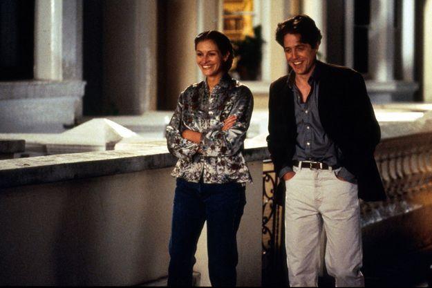 """Julia Roberts et Hugh Grant dans le film """"Coup de foudre à Notting Hills"""""""
