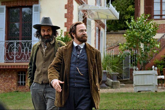 Lors du tournage, à Médan (Yvelines), dans la maison que Zola s'était achetée grâce au succès de «L'Assomoir». Guillaume Gallienne interprète Cézanne et Guillaume Canet, Zola