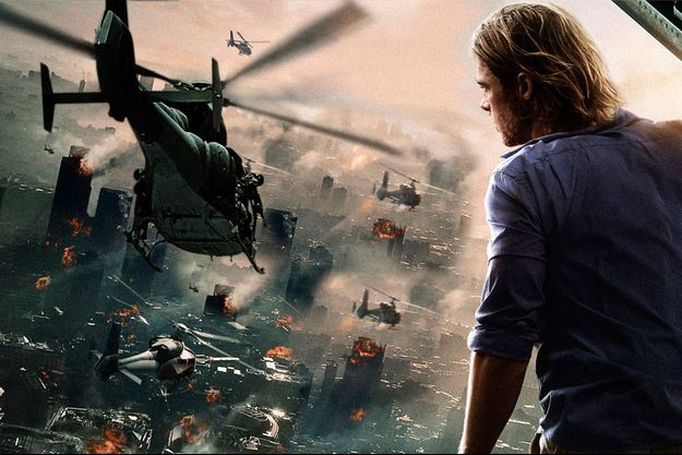 "Brad Pitt en ""World War Z""."