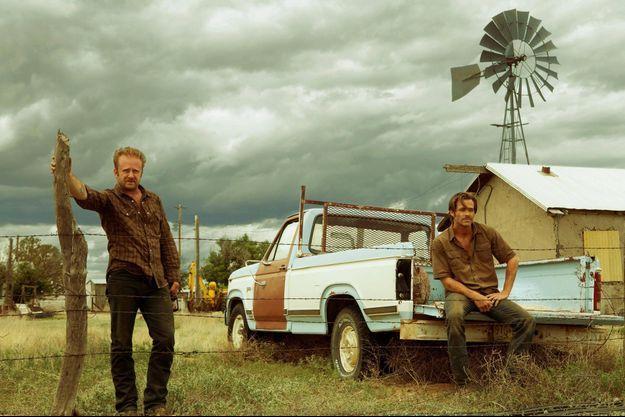 "Ben Foster et Chris Pine dans ""Comancheria"" de David Mackenzie."