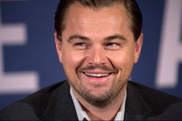 Leonardo DiCaprio lors de la conférence de presse à Paris, lundi 18 janvier 2016