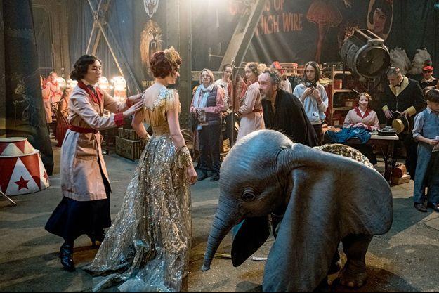 """Sur le tournage de """"Dumbo"""", en salle actuellement."""