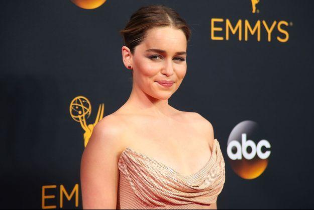 Emilia Clarke lors de la 68e cérémonie des Emmy Awards, à Los Angeles, en septembre dernier.