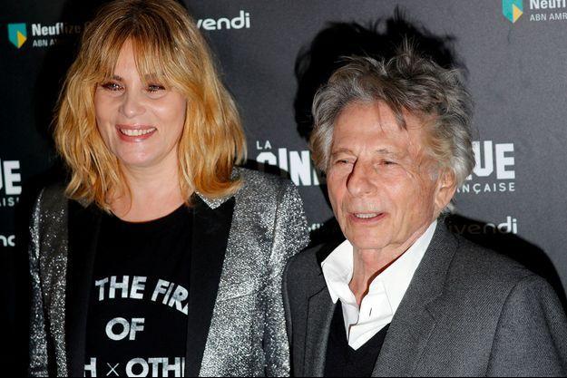 Emmanuelle Seigner et Roman Polanski en octobre 2017, à Paris.