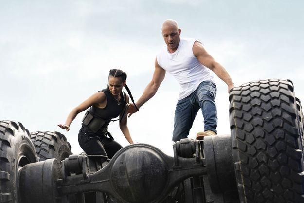 """Nathalie Emmanuel et Vin Diesel dans """"Fast & Furious 9"""""""