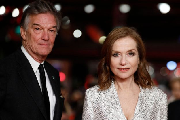 """Benoit Jacquot et Isabelle Huppert lors de la présentation d'""""Eva"""" au Festival de Berlin."""